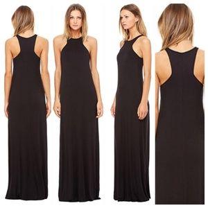 Bella Luxx Black Geometric Casual Maxi Dress